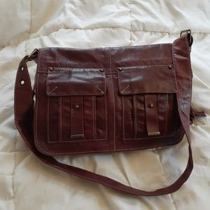 Francesco Biasia large leather saddlebag/crossbody